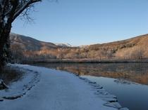初冬 いもり池 歩道