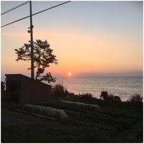 里海の日の出(別館海の家より11月初)