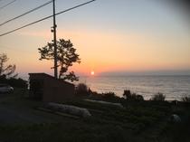 別館・海の家から見える日の出(秋~冬)
