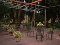 庭テーブル