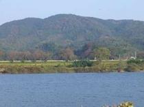 松尾芭蕉が歩いた道。宿裏堤防からの眺め