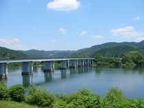 宿裏堤防、北上川。。