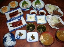 夕食の一例です  4