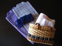 お部屋備え付けの浴衣とタオル