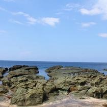 *千畳敷海岸/日本の水浴場55選」、「日本の夕陽百選」に選ばれている千畳敷海岸!