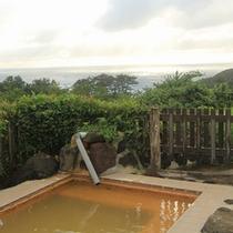 *露天風呂/緑の向こうに海を眺み、美肌の湯に浸かる…至福のひと時をお過ごしください。
