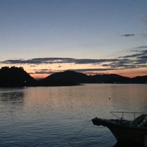 *景色:夕日