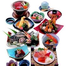 *【葵コース】瀬戸内海で獲れた旬の海の幸を使った通常の会席料理です(イメージ)