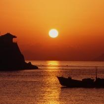 *景色:阿伏兎観音の夕日