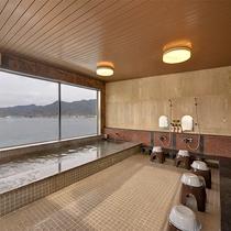 *【展望大浴場】多島美を眺めながら、ゆったり旅の疲れをお取り下さい