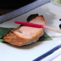 朝食セットの焼き魚です