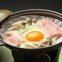 朝食セットの鍋卵焼きです