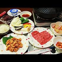 *夕食一例☆皆でお肉を囲んでわいわい楽しいお食事をどうぞ!