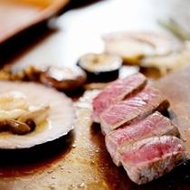 国産牛フィレステーキと旬野菜の鉄板焼き