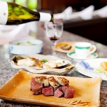 ステーキ&シーフード 六角堂で食す贅沢な鉄板焼き
