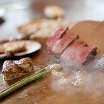国産牛フィレステーキ鉄板焼き