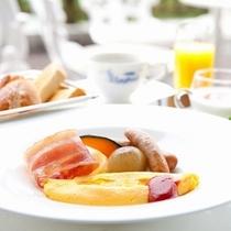ご朝食:名古屋コーチンの卵料理