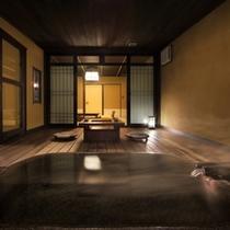 【内風呂側から見たお部屋の様子】