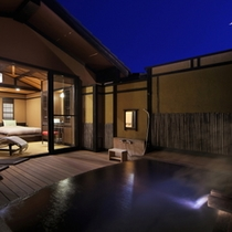 【露天風呂:雪タイプ】夜景の様子