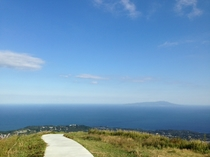 大室山頂上からの景色