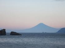 秋の夕焼け富士