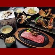 松茸と米沢牛ステーキ1