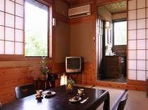 【客室】さくらそう/季節の花が飾られた「和」の客室は、全室にトイレ・洗面付き