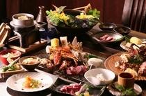 【伊勢海老&タラバ蟹&厳選牛♪贅沢プラン】炭火で豪快に焼き上げる豪華食材をご堪能下さい!