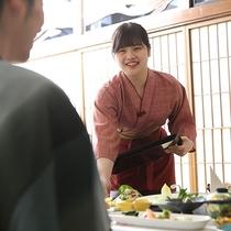 津和野娘の笑顔でのおもてなし♪