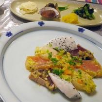 *夕食一例/シェフが愛情込めて工夫を凝らした、オリジナルのコース料理。