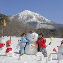 冒険王国磐梯山と雪だるま