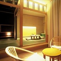 ひのき風呂付和室「たけくらべ」