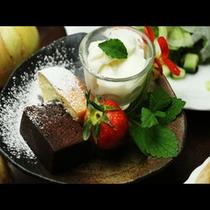 【夕食】ドルチェ。食後に召し上がれ♪