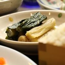 夕食(野沢菜漬け)