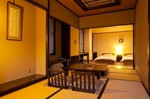 和室+ツインベッドの和洋室