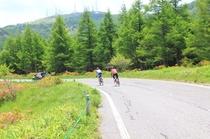 高原と自転車