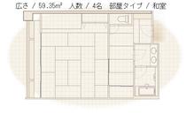 【クラブハウス本館】和室平面図