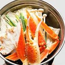 *カニ鍋/日本海で獲れた美味しいカニ鍋付き♪魚沼産コシヒカリや会席料理と共にお楽しみください。