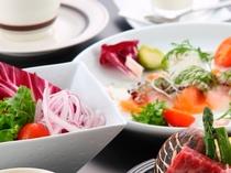 【サラダ】と【カルパッチョ仕立て】