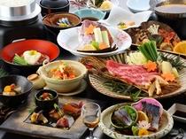 大分名物関鯖と松茸をお楽しみください!【料理長おすすめ!関鯖お造りと牛松茸のすき焼き会席】