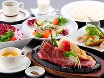 【選べるステーキプラン】※写真のお肉はサーロインステーキです。