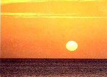 夕陽(お部屋より)