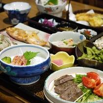 *【料理一例】地物使った、日替わりの手作り田舎料理を召し上がれ!
