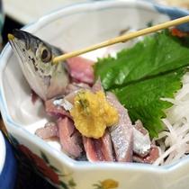 *【料理一例】新鮮な海の幸をお刺身で♪盛り付けにもこだわっております。