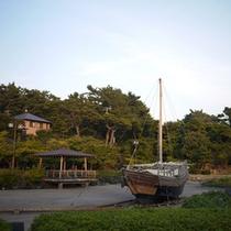 *【周辺スポット】「日和山公園」日本最古級の木造灯台や千石船の復元モデルなど見所がたくさん!