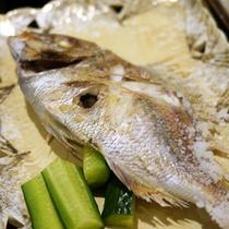 *【料理一例】焼き魚など地物・旬物を生かしたお食事をお楽しみください。