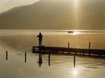 野尻湖夕景