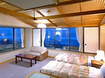 海の見える和洋室一例