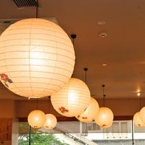 「照葉庵」店内の照明