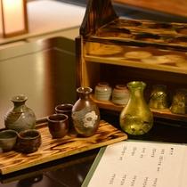 *おもてなしの試飲 雲海酒造で作られた、本格焼酎や清酒、綾ワインを試飲いただけます